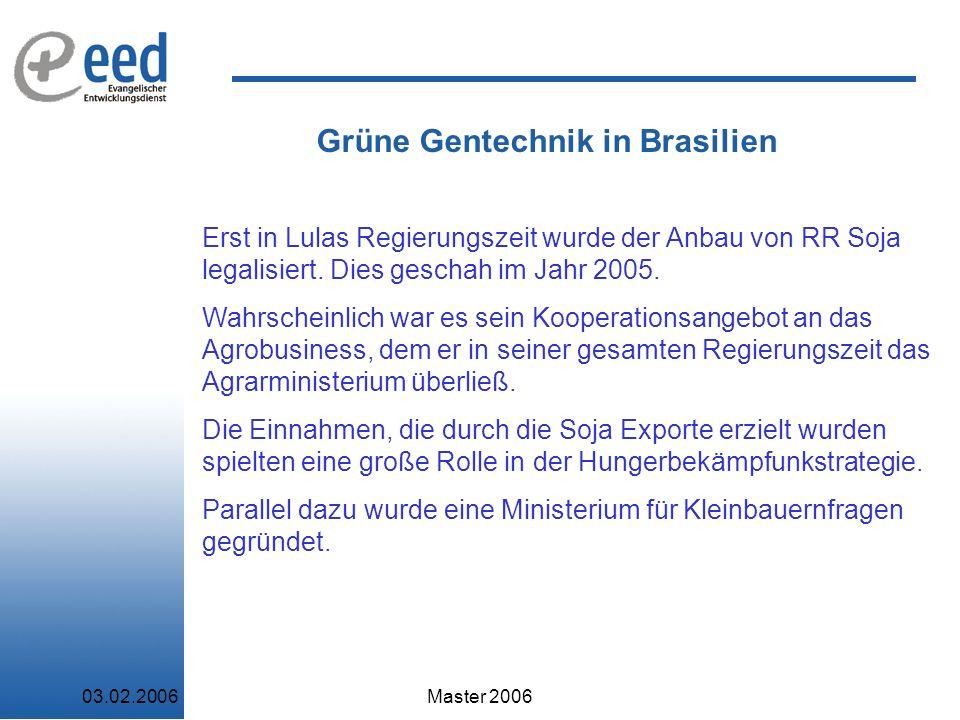 Grüne Gentechnik in Brasilien