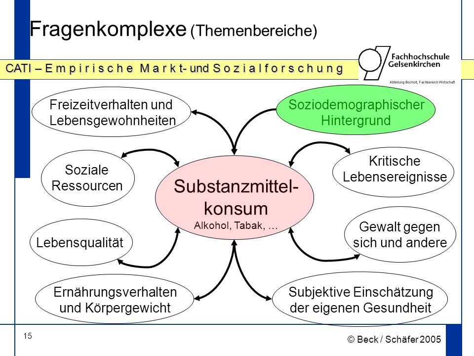 Fragenkomplexe (Themenbereiche)