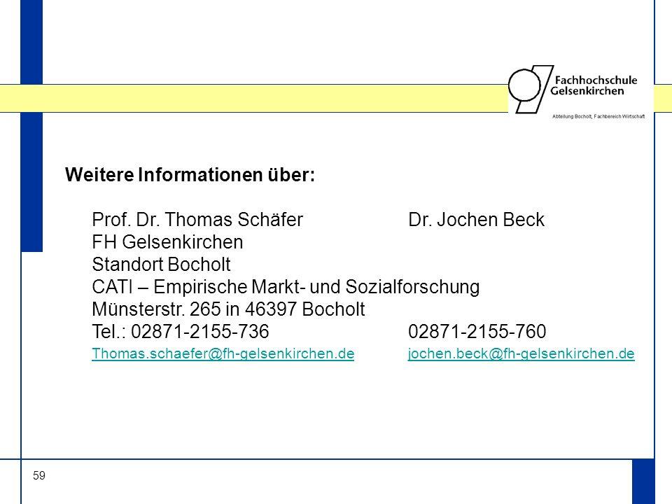 Weitere Informationen über: Prof. Dr. Thomas Schäfer Dr. Jochen Beck