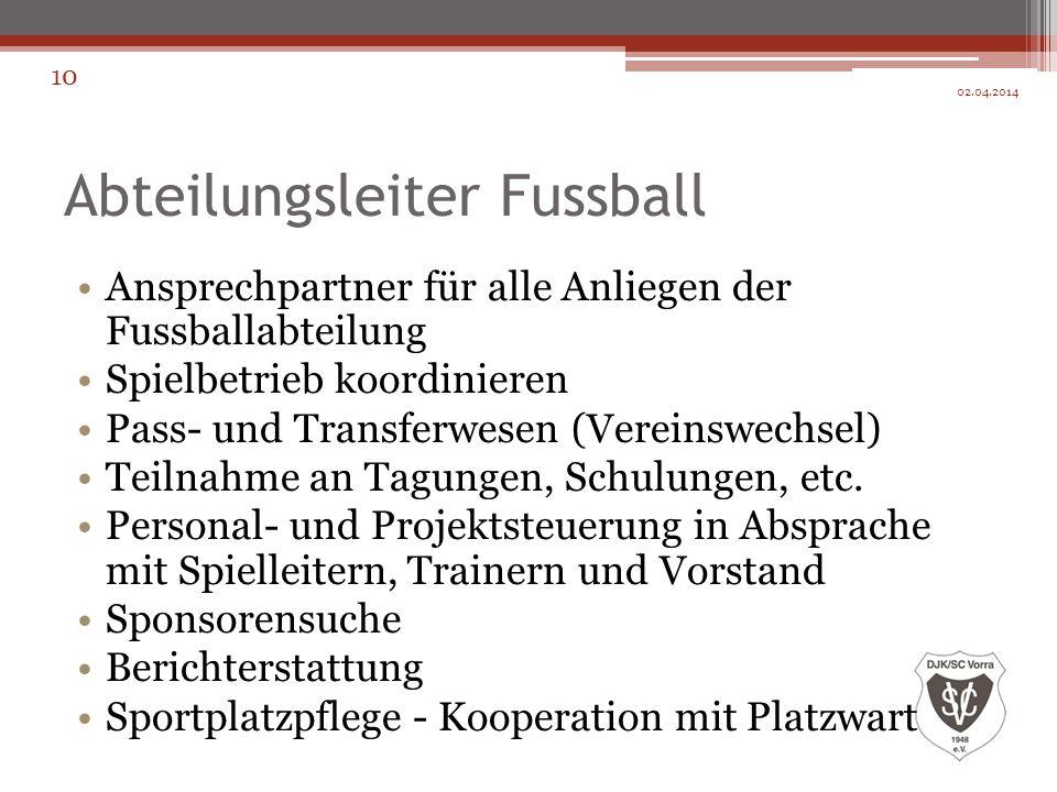 Abteilungsleiter Fussball