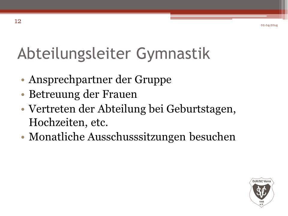 Abteilungsleiter Gymnastik