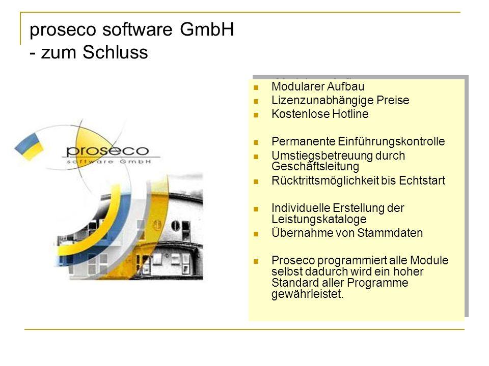 proseco software GmbH - zum Schluss