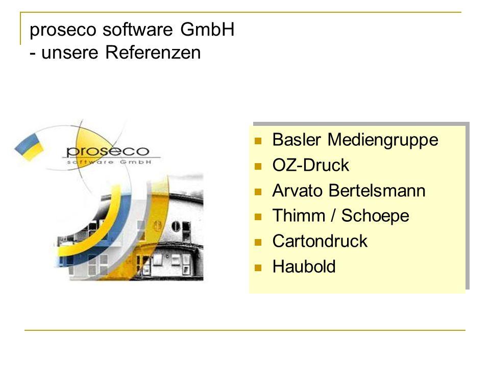 proseco software GmbH - unsere Referenzen