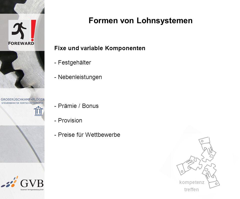 Formen von Lohnsystemen
