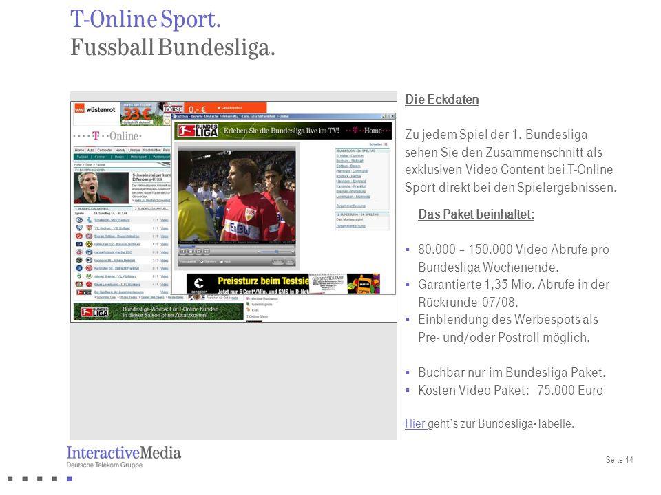 T-Online Sport. Fussball Bundesliga.
