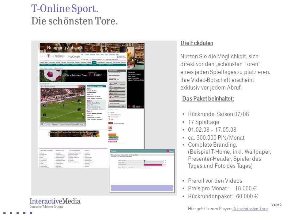 T-Online Sport. Die schönsten Tore.