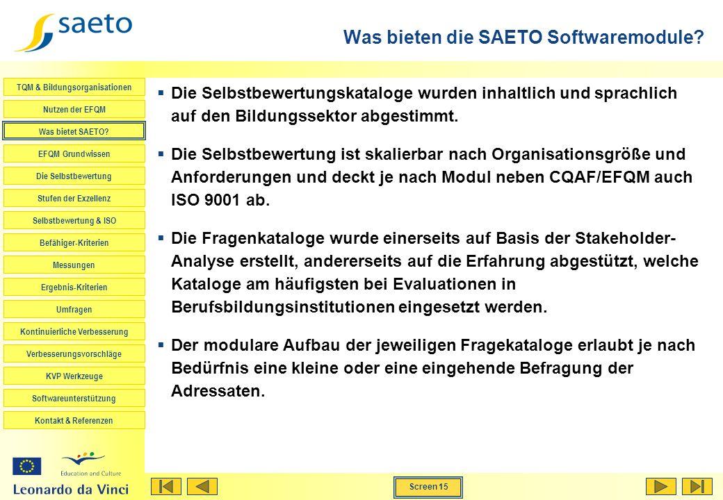 Was bieten die SAETO Softwaremodule