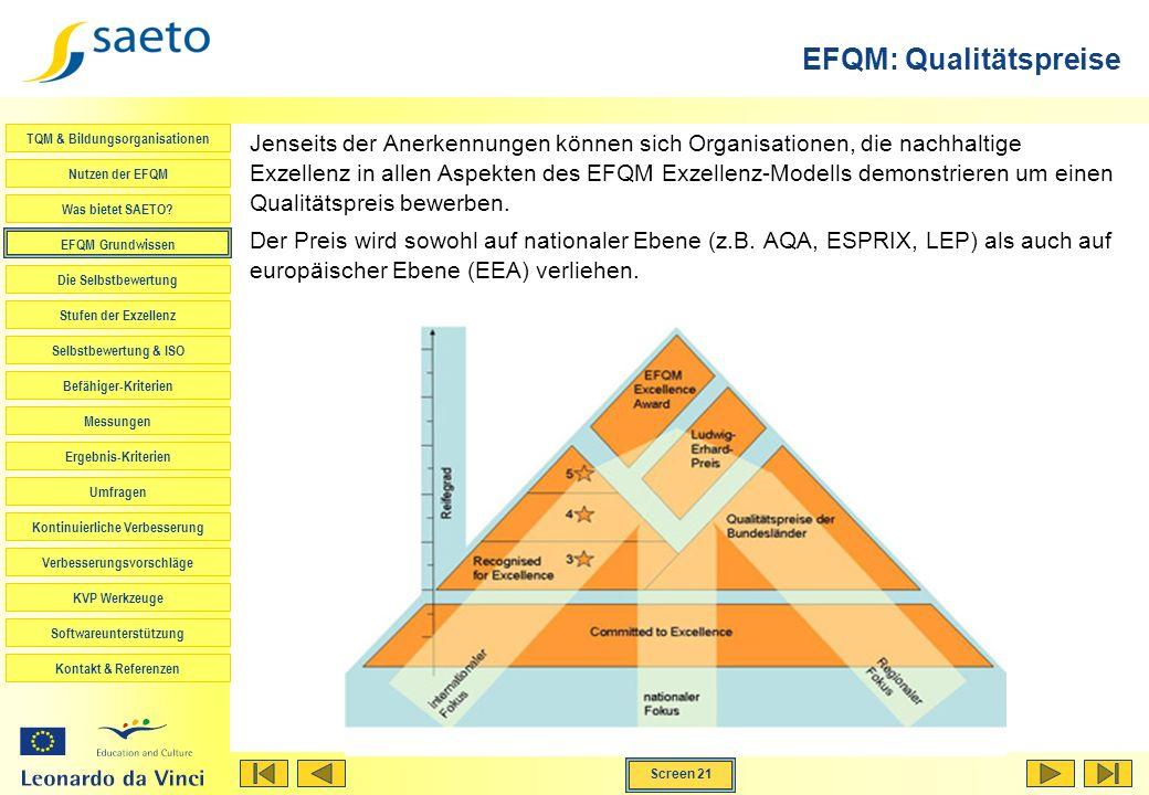 EFQM: Qualitätspreise