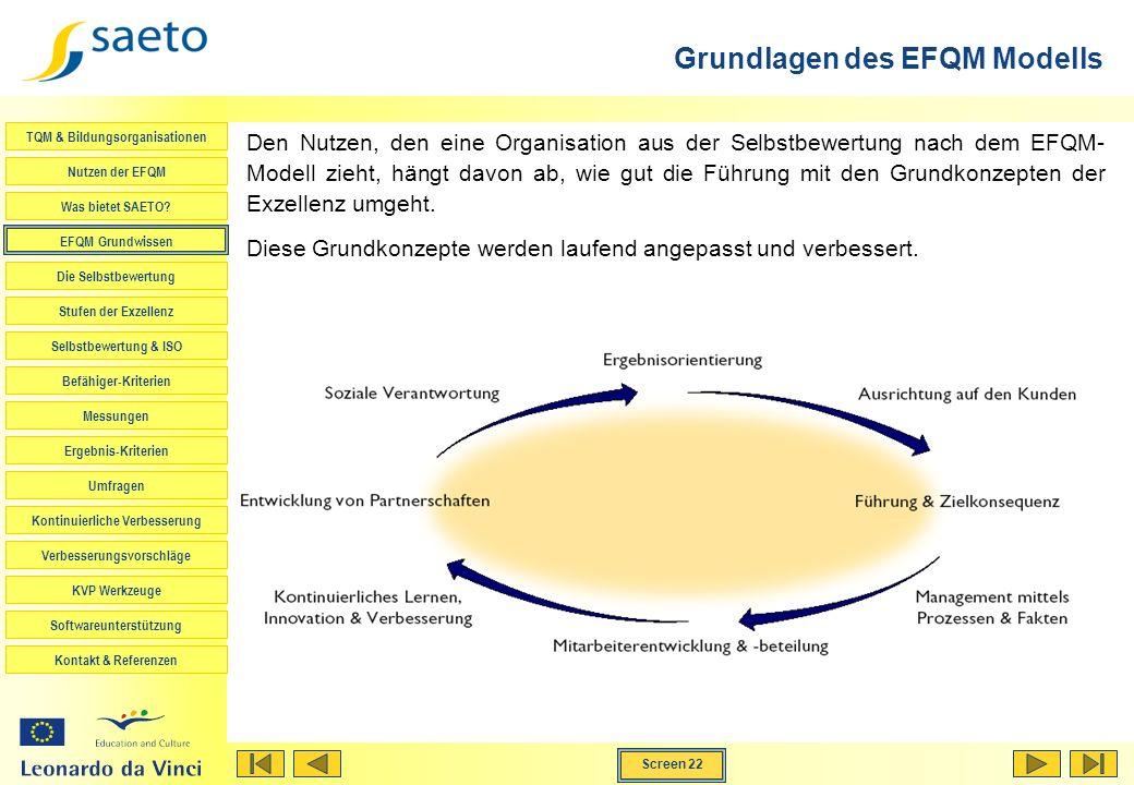 Grundlagen des EFQM Modells
