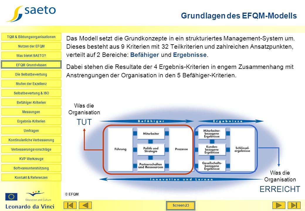 Grundlagen des EFQM-Modells