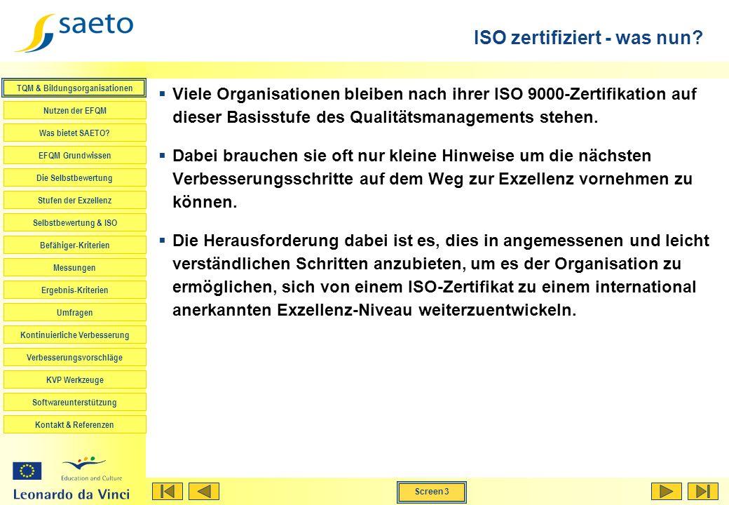 ISO zertifiziert - was nun