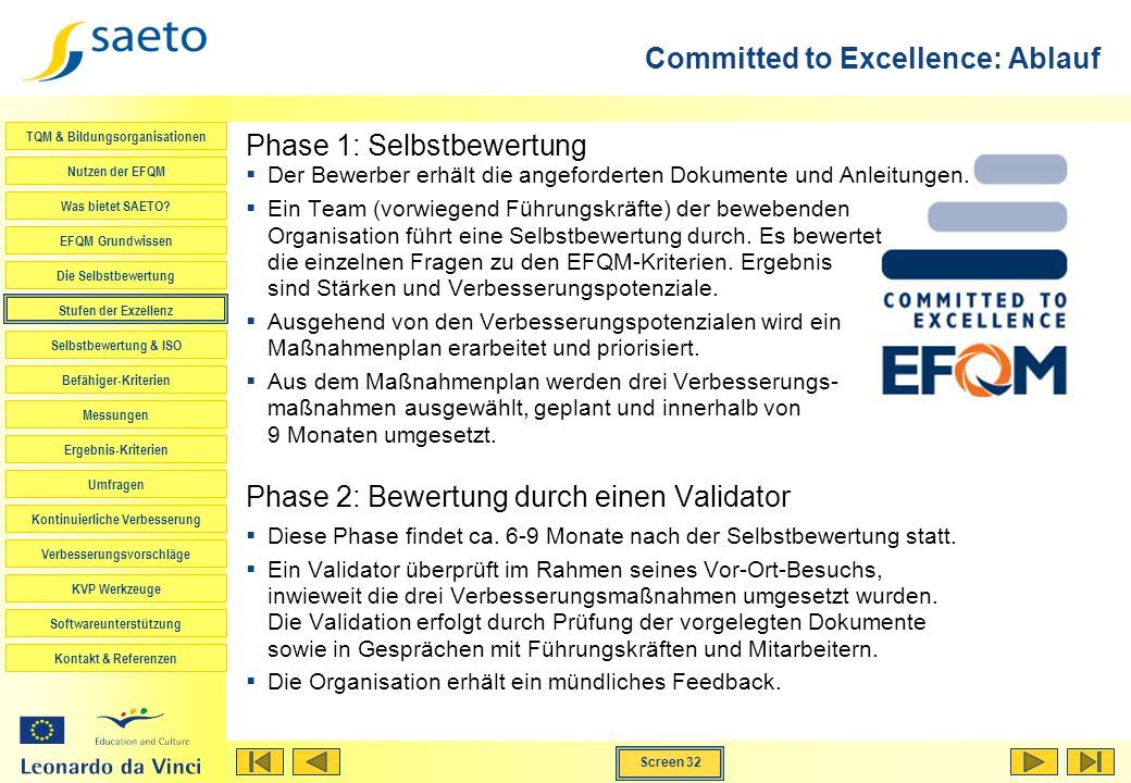 Committed to Excellence: Ablauf