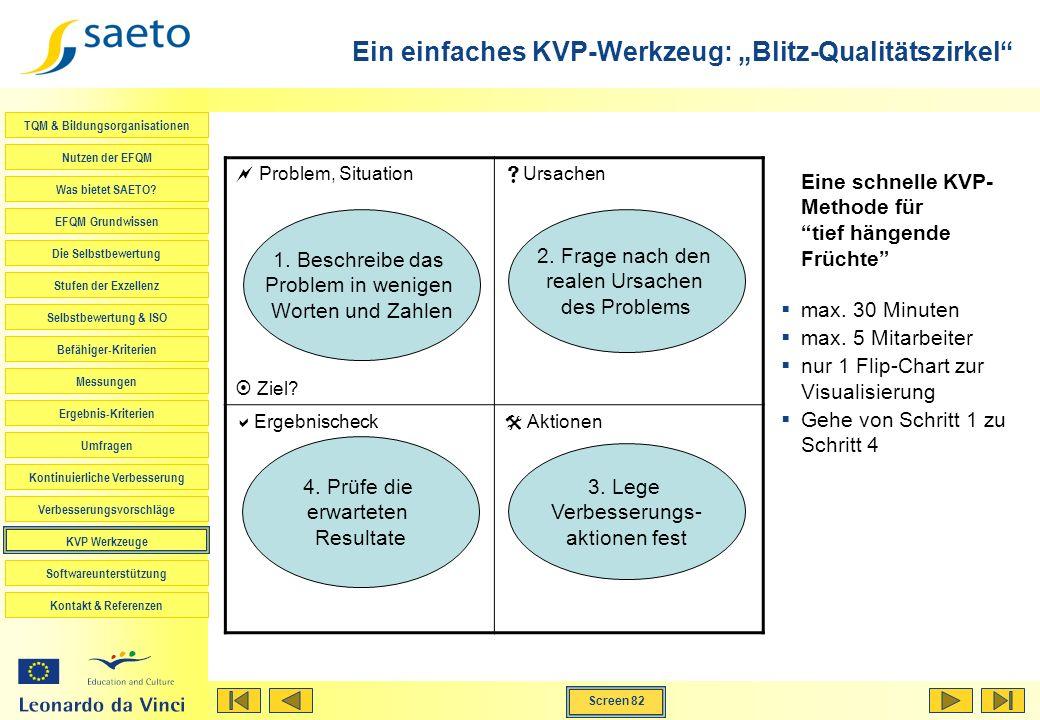 """Ein einfaches KVP-Werkzeug: """"Blitz-Qualitätszirkel"""