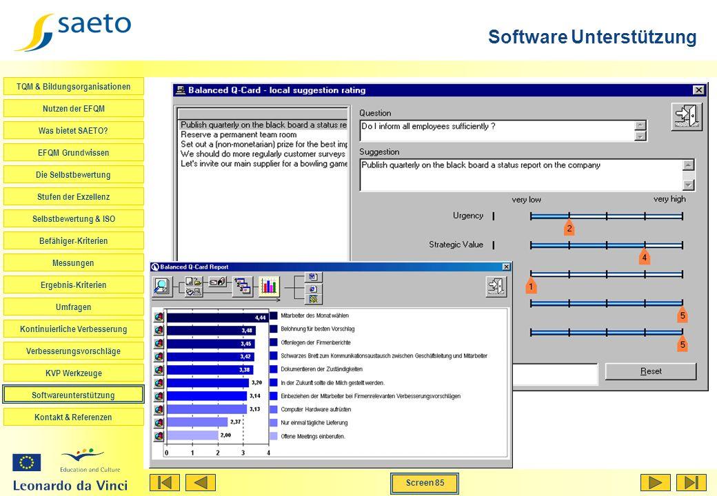 Software Unterstützung