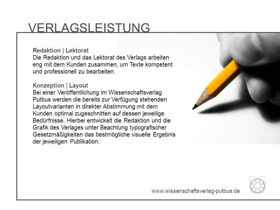 VERLAGSLEISTUNG Redaktion | Lektorat