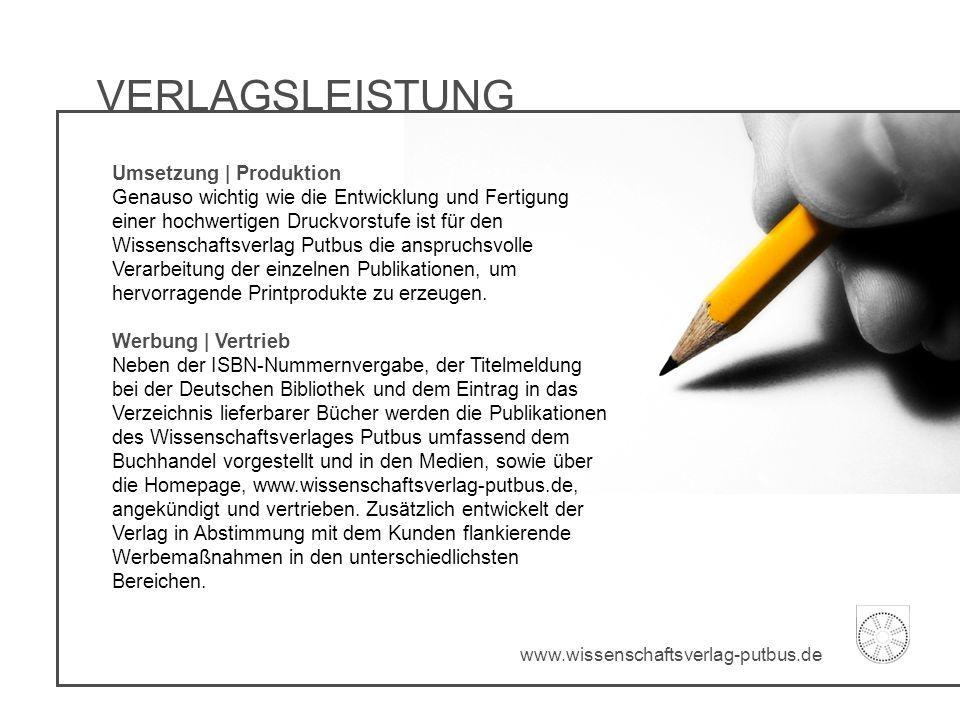 VERLAGSLEISTUNG Umsetzung | Produktion