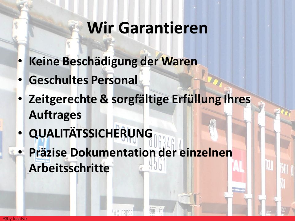 Wir Garantieren Keine Beschädigung der Waren Geschultes Personal