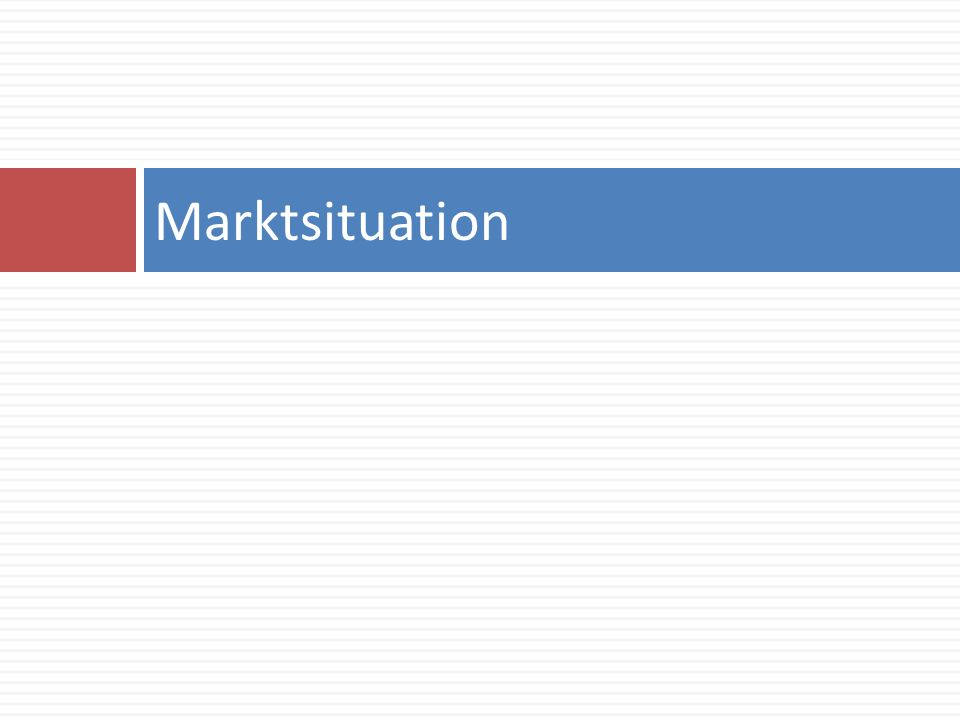 Marktsituation