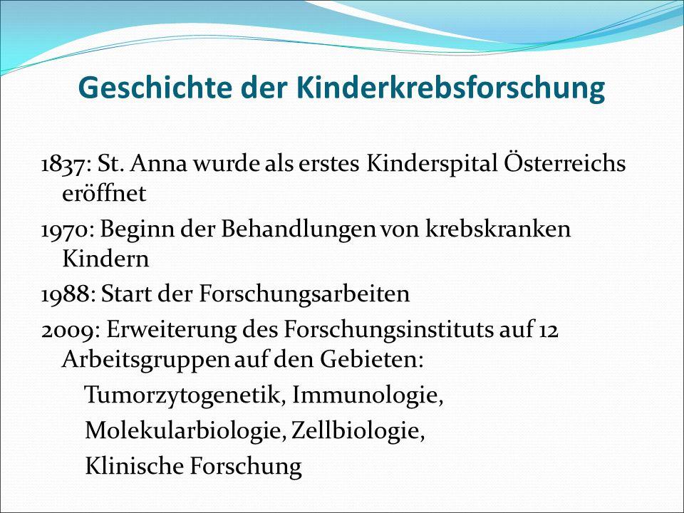 Geschichte der Kinderkrebsforschung