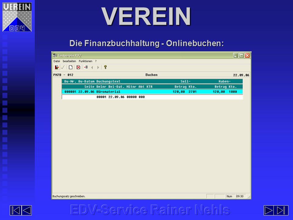 Die Finanzbuchhaltung - Onlinebuchen:
