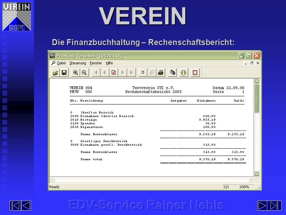 Die Finanzbuchhaltung – Rechenschaftsbericht: