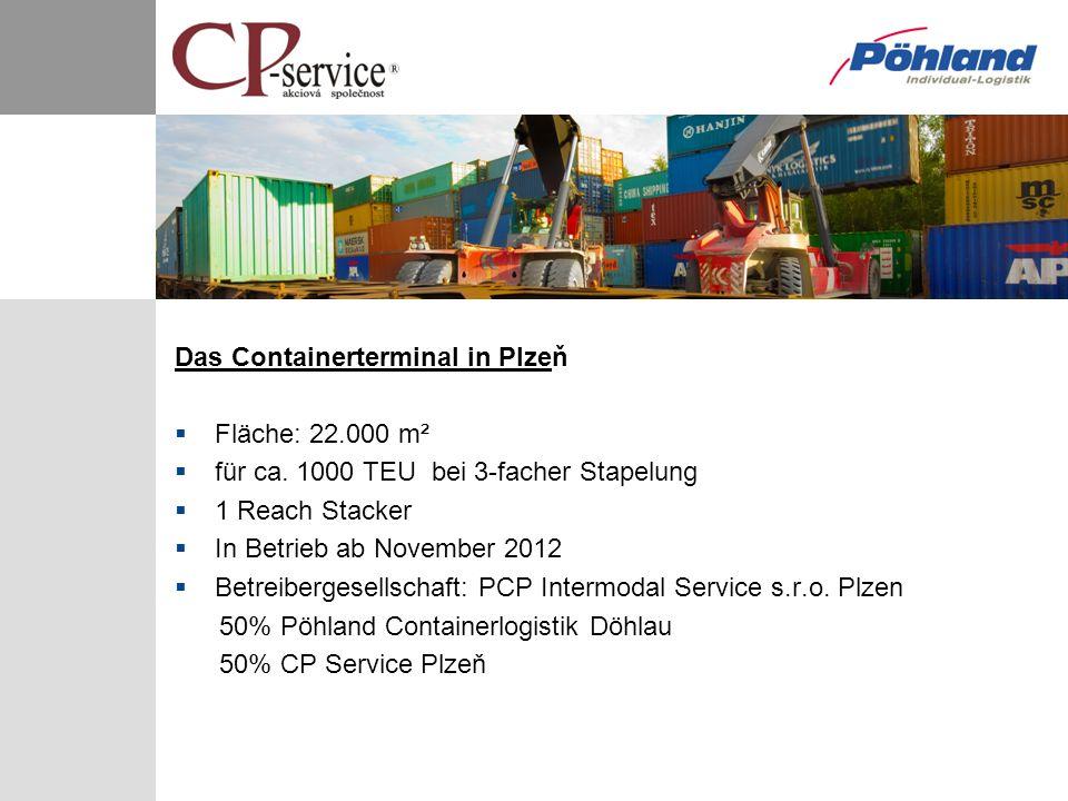 Das Containerterminal in Plzeň