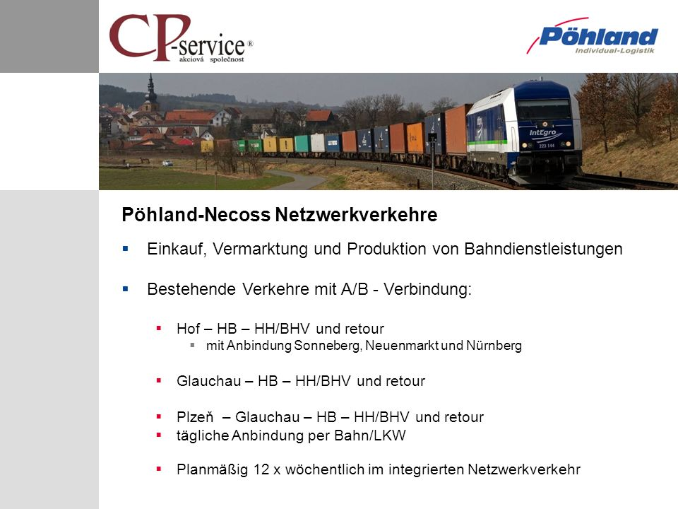 Pöhland-Necoss Netzwerkverkehre
