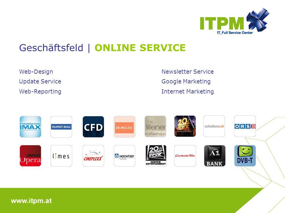 Geschäftsfeld | ONLINE SERVICE