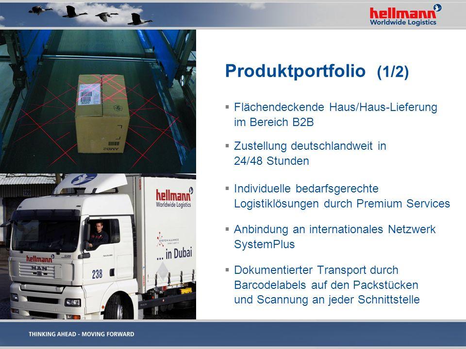 Produktportfolio (1/2) Flächendeckende Haus/Haus-Lieferung im Bereich B2B. Zustellung deutschlandweit in 24/48 Stunden.