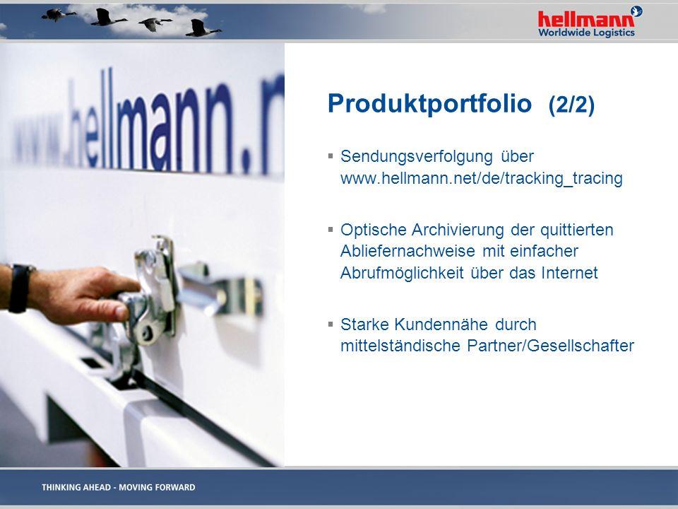 Produktportfolio (2/2) Sendungsverfolgung über www.hellmann.net/de/tracking_tracing.