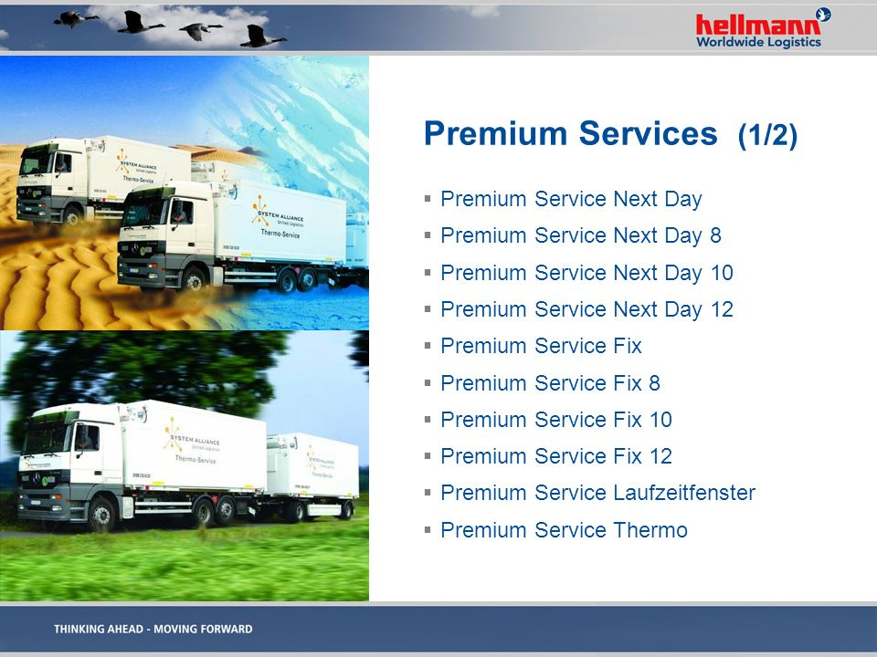 Premium Services (1/2) Premium Service Next Day