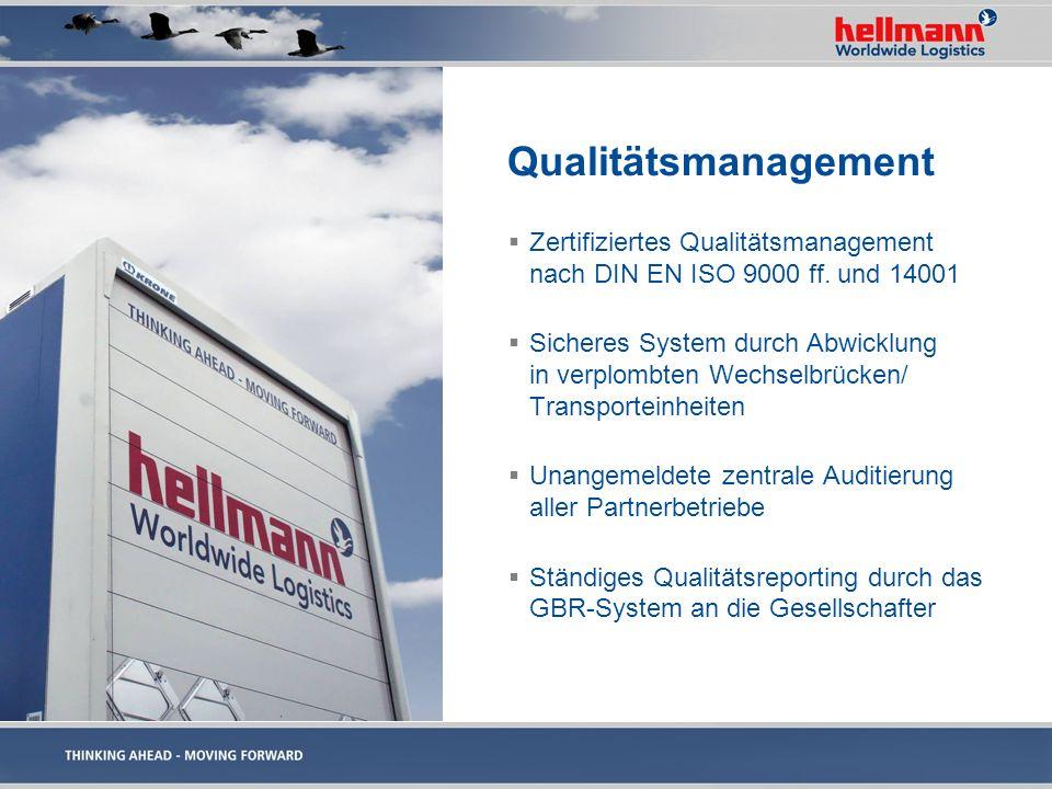 Qualitätsmanagement Zertifiziertes Qualitätsmanagement nach DIN EN ISO 9000 ff. und 14001.