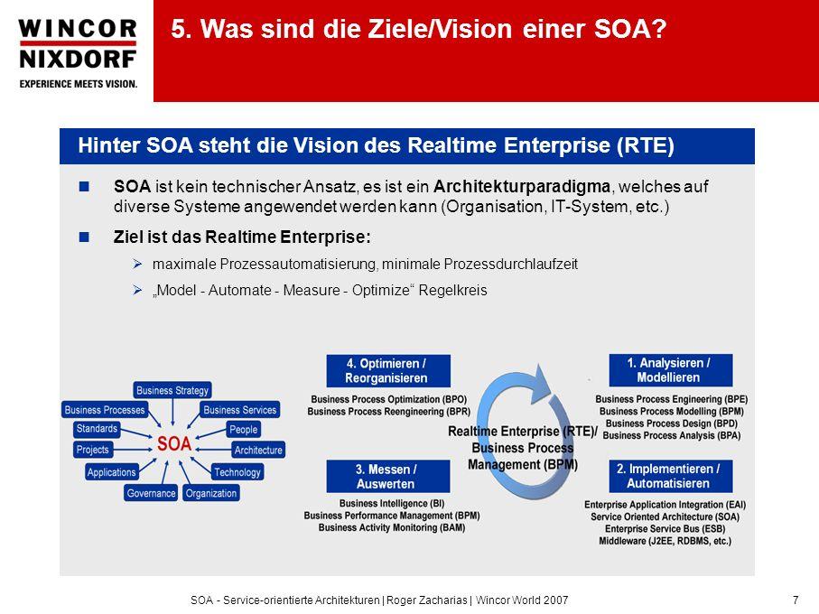 5. Was sind die Ziele/Vision einer SOA