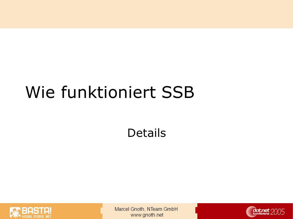 Wie funktioniert SSB Details