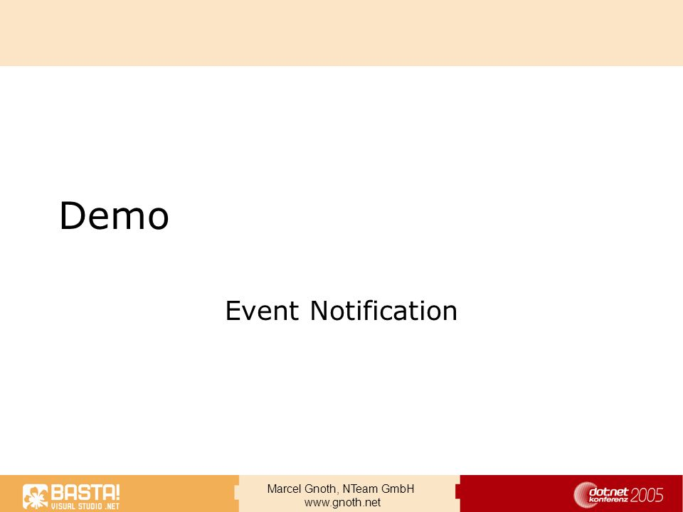 Demo Event Notification