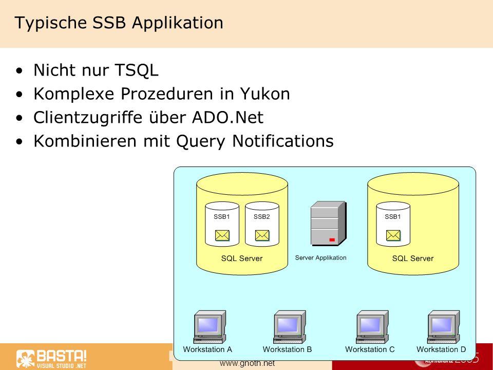 Typische SSB Applikation
