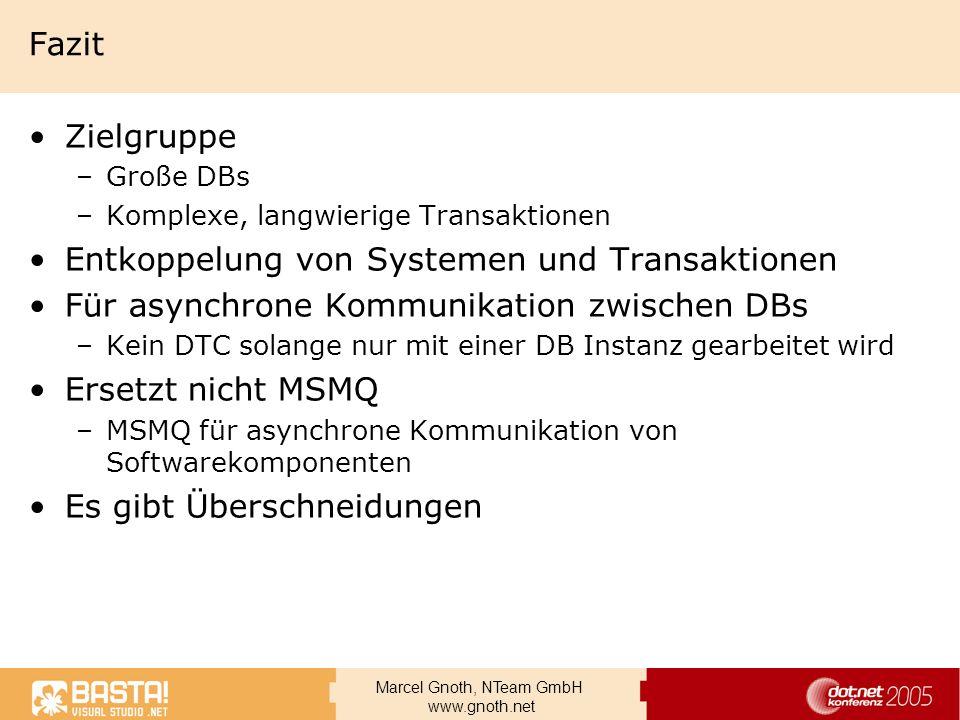 Entkoppelung von Systemen und Transaktionen