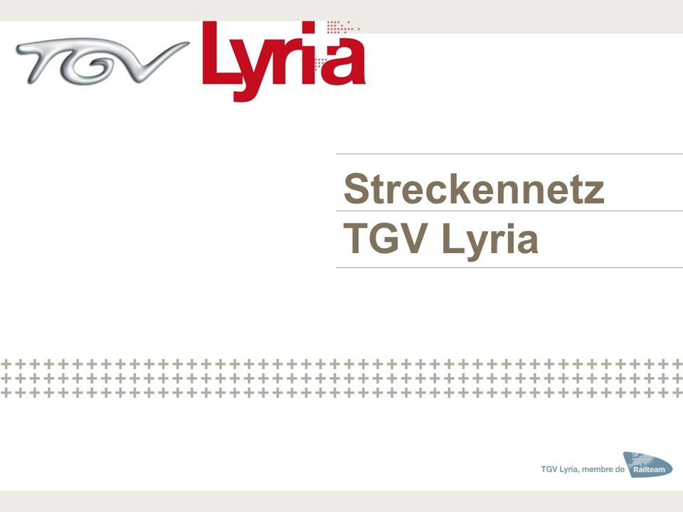 Streckennetz TGV Lyria