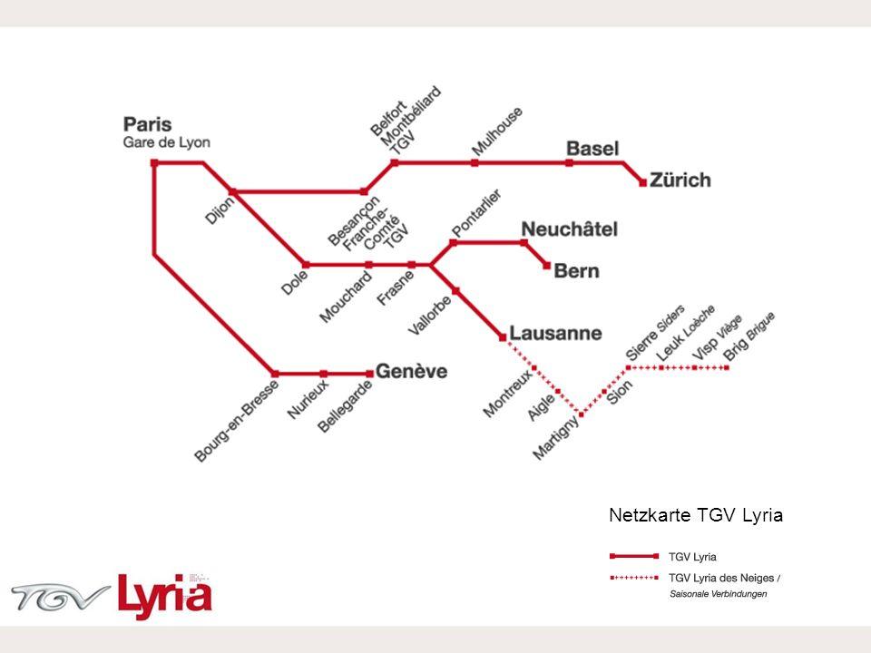 Netzkarte TGV Lyria Netzkarte TGV Lyria