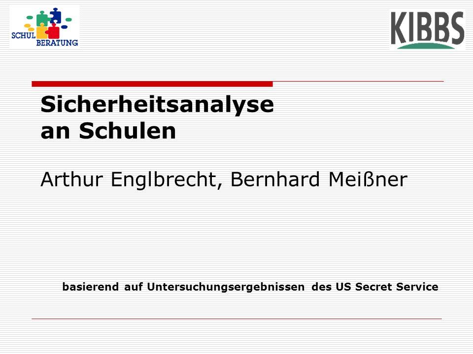 Sicherheitsanalyse an Schulen Arthur Englbrecht, Bernhard Meißner