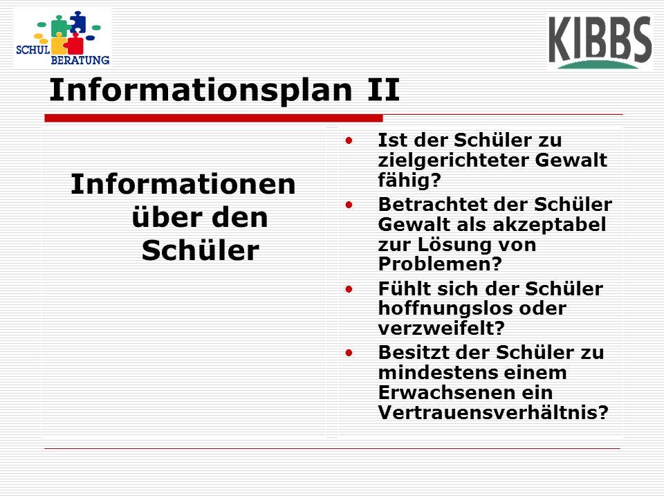 Informationen über den Schüler