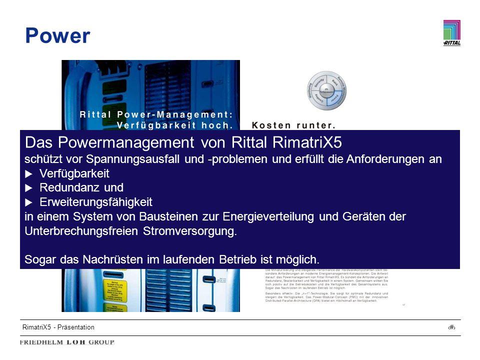 Power Das Powermanagement von Rittal RimatriX5
