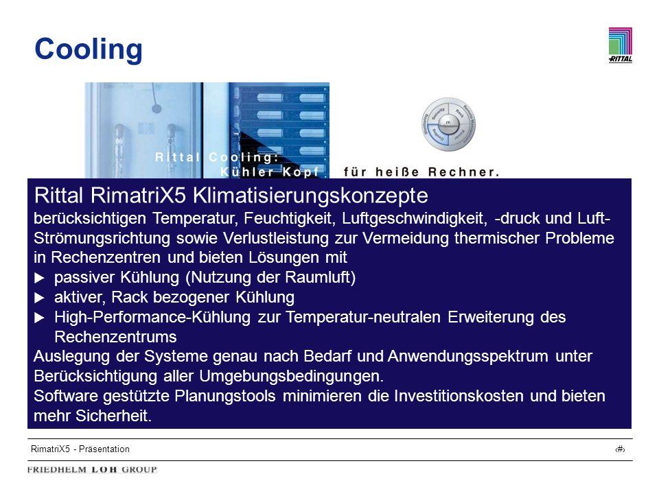 Cooling Rittal RimatriX5 Klimatisierungskonzepte