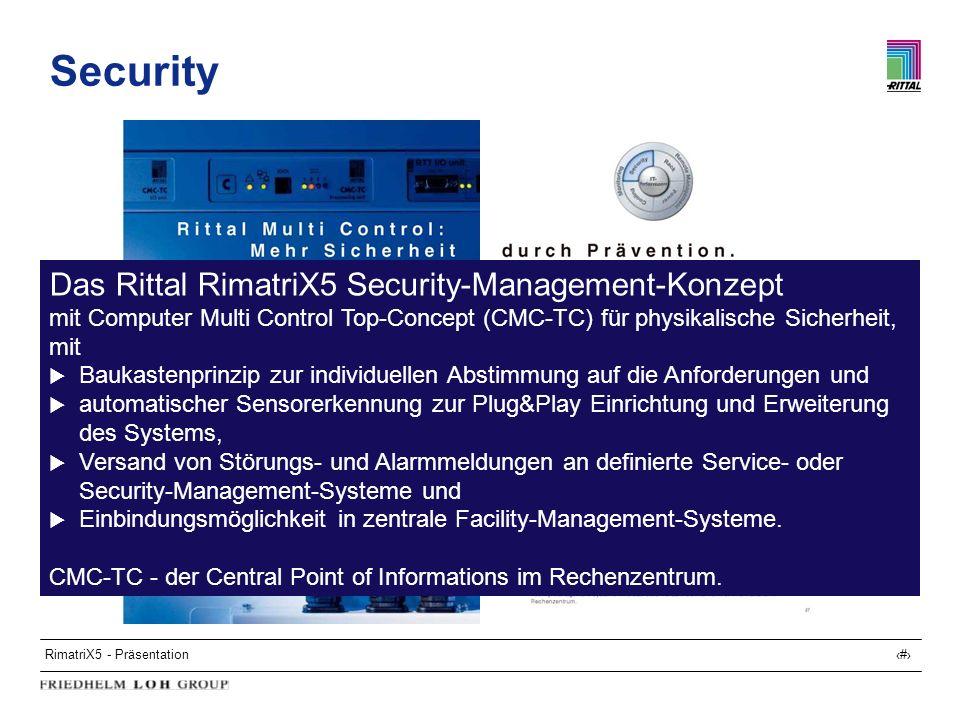 Security Das Rittal RimatriX5 Security-Management-Konzept