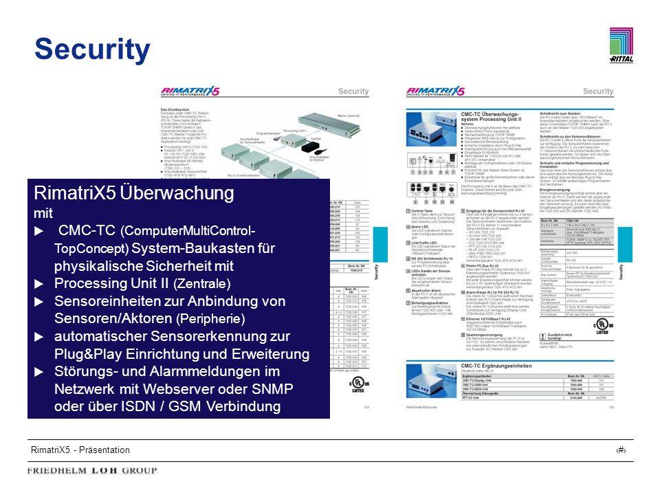 Security RimatriX5 Überwachung mit