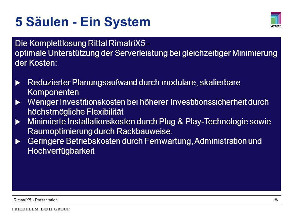 5 Säulen - Ein System Die Komplettlösung Rittal RimatriX5 -