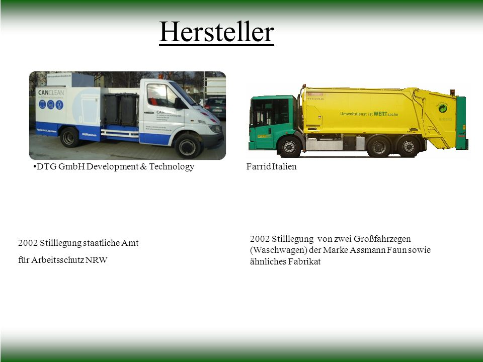 Hersteller DTG GmbH Development & Technology Farrid Italien