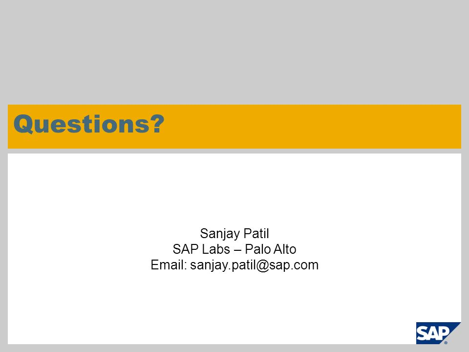 Email: sanjay.patil@sap.com