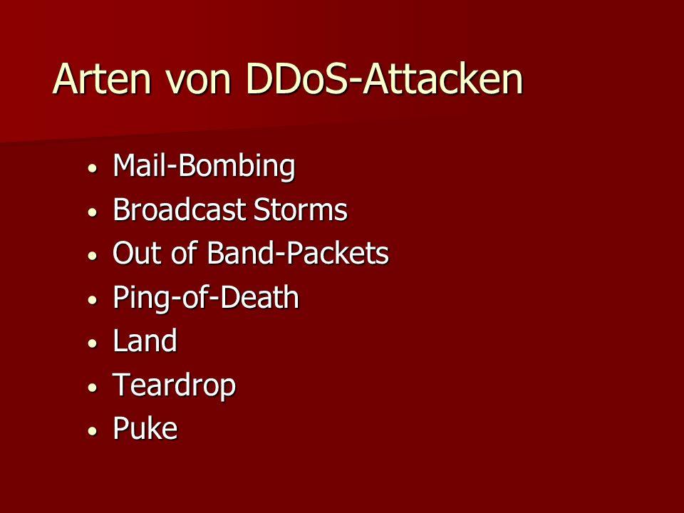 Arten von DDoS-Attacken