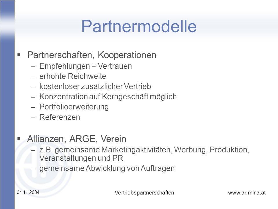 Vertriebspartnerschaften